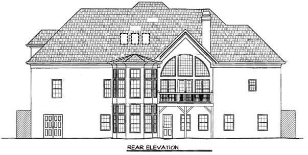 House Plan 98209 | European Style Plan with 2832 Sq Ft, 4 Bedrooms, 4 Bathrooms, 2 Car Garage Rear Elevation