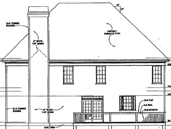 Country Farmhouse House Plan 98210 Rear Elevation