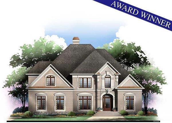 Greek Revival Floor Plans: European Greek Revival House Plan 98211