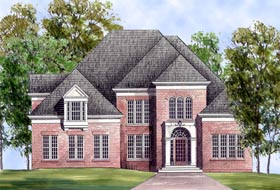 Colonial European House Plan 98212 Elevation