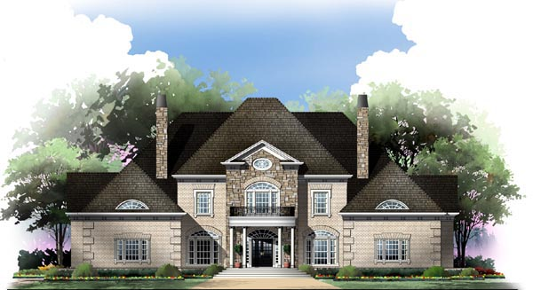 Colonial Greek Revival House Plan 98214 Elevation