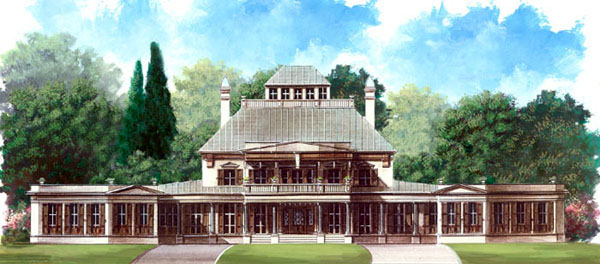 Greek Revival Traditional House Plan 98215 Elevation