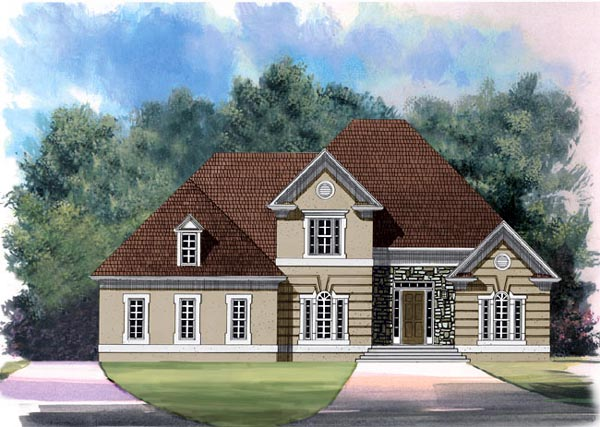 European House Plan 98216 Elevation
