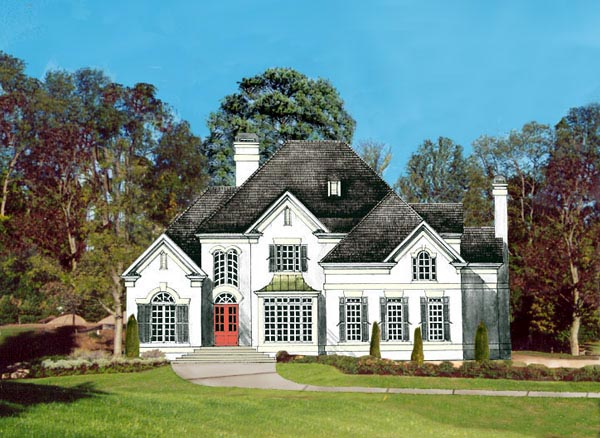 Victorian , European House Plan 98218 with 4 Beds, 4 Baths, 2 Car Garage Elevation