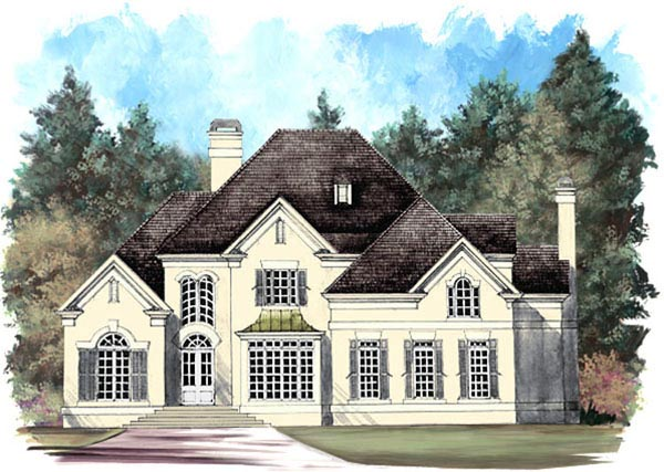 European, Victorian House Plan 98218 with 4 Beds, 4 Baths, 2 Car Garage Picture 3