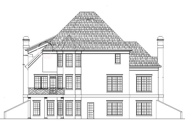 European Traditional House Plan 98219 Rear Elevation