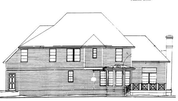 European Victorian House Plan 98221 Rear Elevation