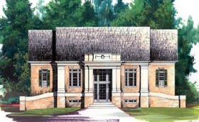 Colonial House Plan 98223 Elevation