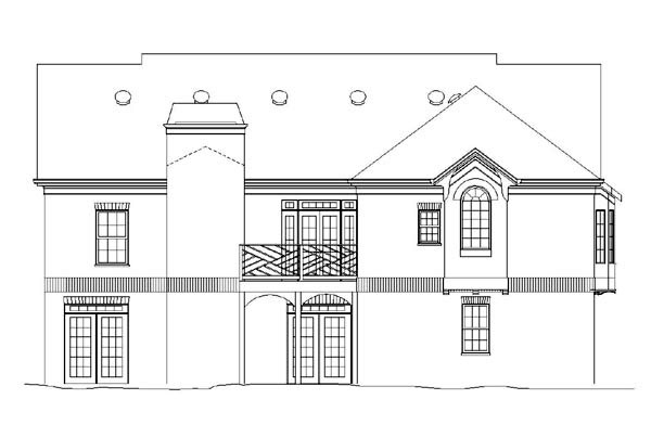 Colonial House Plan 98223 Rear Elevation