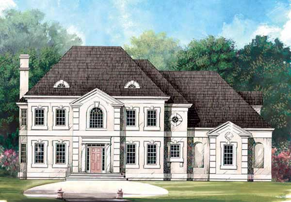 Colonial European House Plan 98232 Elevation