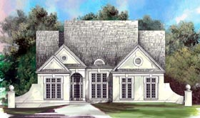 Colonial , European House Plan 98233 with 3 Beds, 3 Baths, 2 Car Garage Elevation