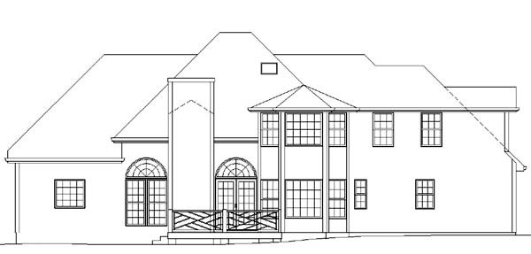Colonial House Plan 98234 Rear Elevation