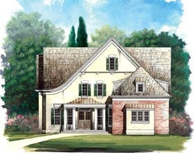 House Plan 98235 | Colonial Country Style Plan with 2505 Sq Ft, 4 Bedrooms, 4 Bathrooms, 2 Car Garage Elevation