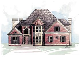 House Plan 98236 | European Victorian Style Plan with 2491 Sq Ft, 4 Bedrooms, 3 Bathrooms, 2 Car Garage Elevation