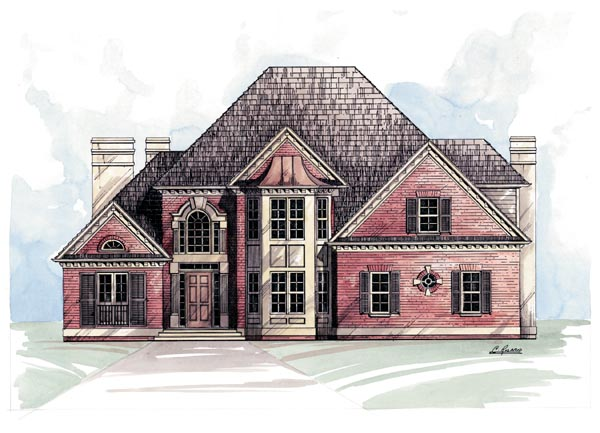 European Victorian House Plan 98236 Elevation