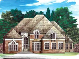 European Greek Revival Victorian House Plan 98237 Elevation