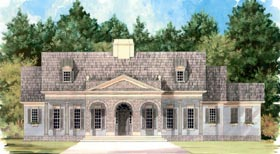Colonial House Plan 98238 Elevation