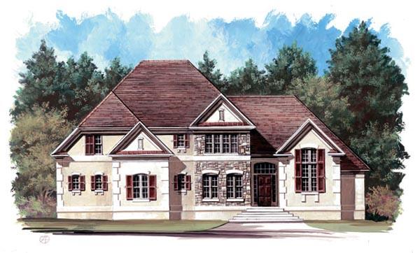 European Tudor House Plan 98241 Elevation