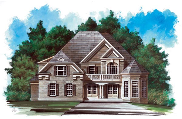 European, Victorian House Plan 98242 with 4 Beds, 4 Baths, 2 Car Garage Front Elevation