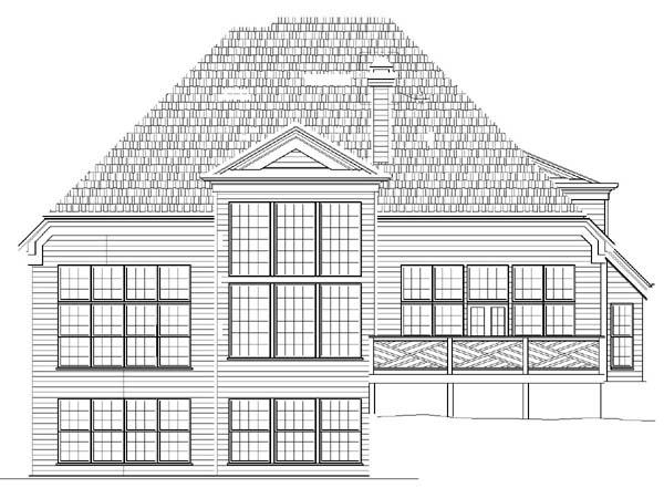 European Victorian House Plan 98242 Rear Elevation