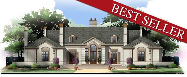 Colonial European House Plan 98245 Elevation