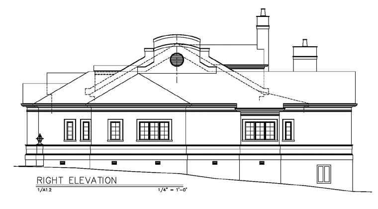 Colonial European House Plan 98245