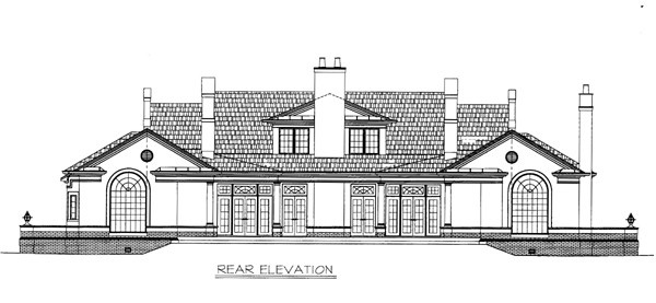 Colonial European House Plan 98245 Rear Elevation