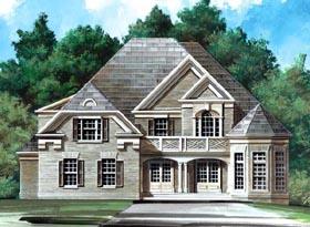 European , Greek Revival , Victorian House Plan 98249 with 5 Beds, 4 Baths, 2 Car Garage Elevation