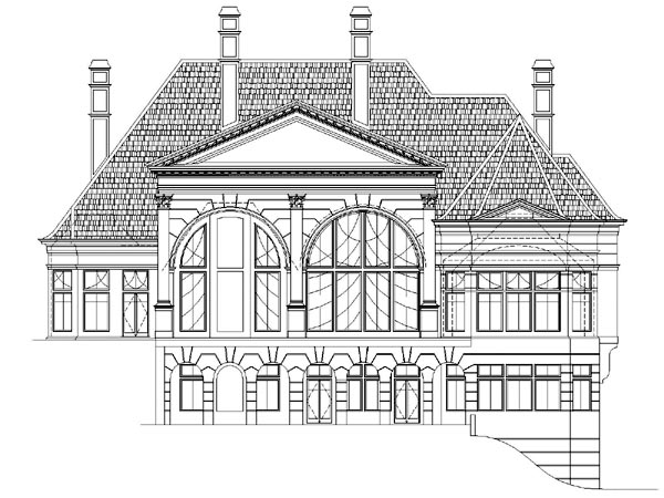 European Greek Revival Victorian House Plan 98254 Rear Elevation