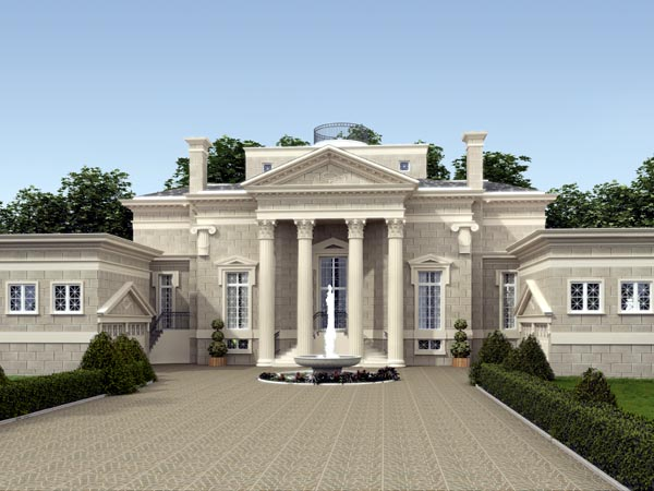 Colonial, Greek Revival, Southern House Plan 98255 with 3 Beds, 6 Baths, 4 Car Garage Elevation