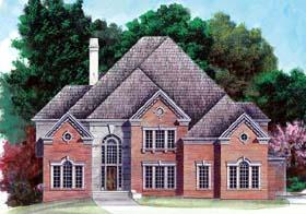 European , Greek Revival House Plan 98259 with 5 Beds, 6 Baths, 3 Car Garage Elevation