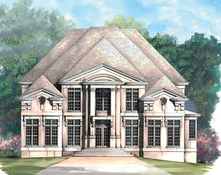 Colonial Greek Revival House Plan 98260 Elevation