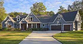 Country , Craftsman , Traditional , Tudor House Plan 98267 with 3 Beds, 4 Baths, 3 Car Garage Elevation