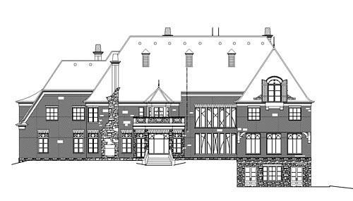 Greek Revival House Plan 98268 Rear Elevation