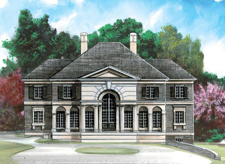 Colonial Greek Revival House Plan 98270 Elevation