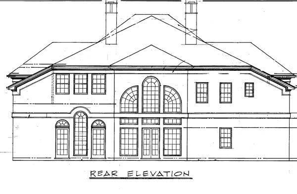 Colonial Greek Revival House Plan 98270 Rear Elevation
