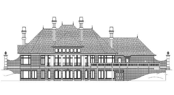 European Greek Revival Victorian House Plan 98273 Rear Elevation