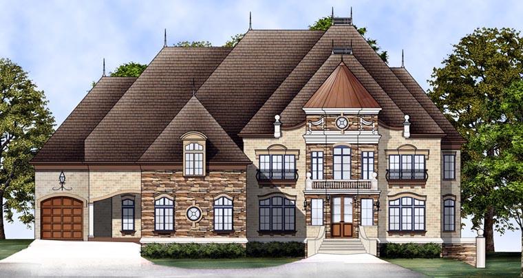 European Greek Revival House Plan 98274 Elevation