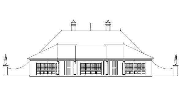 European Victorian House Plan 98277 Rear Elevation