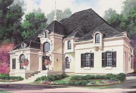 European Greek Revival House Plan 98280 Elevation