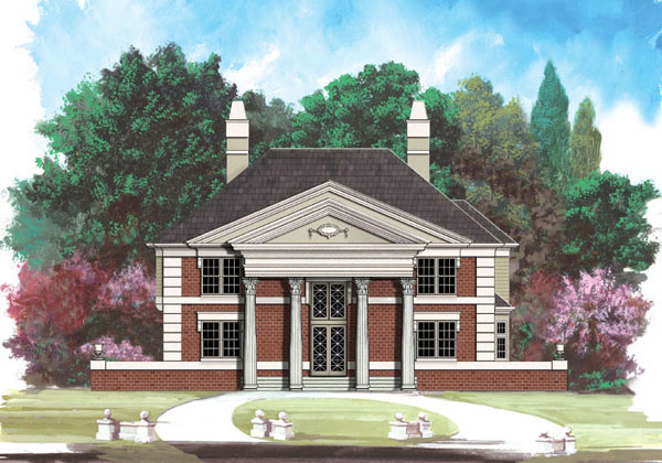 Colonial House Plan 98286 Elevation