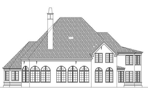 European Greek Revival Tudor Victorian House Plan 98290 Rear Elevation