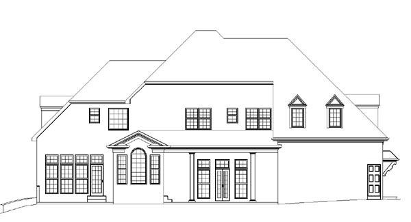 Colonial European Greek Revival House Plan 98291 Rear Elevation