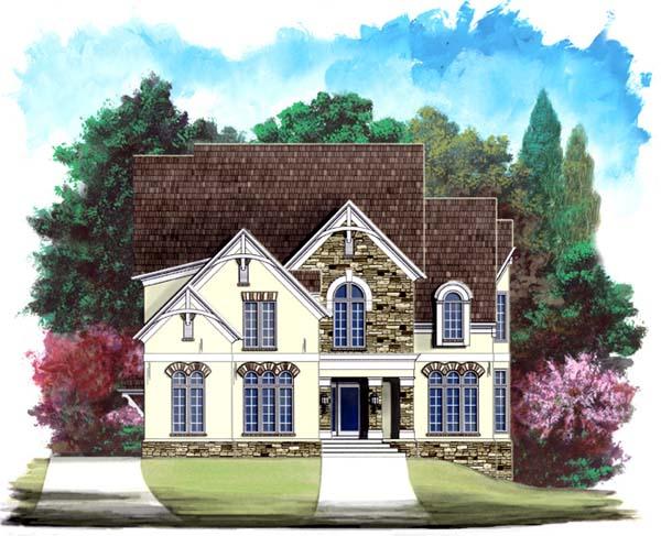 Bungalow European Tudor House Plan 98294 Elevation
