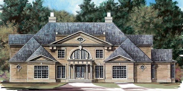 Colonial Greek Revival House Plan 98295 Elevation
