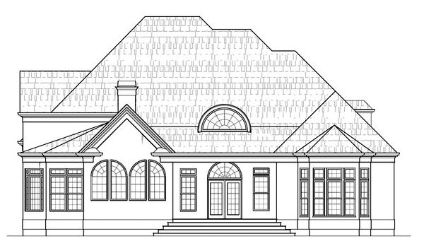 Colonial Greek Revival House Plan 98297 Rear Elevation