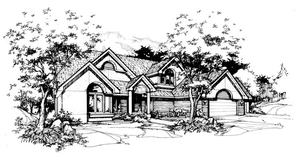 Colonial European Traditional House Plan 98303 Elevation