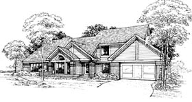 House Plan 98306 | Traditional Style House Plan with 3102 Sq Ft, 3 Bed, 3 Bath, 2 Car Garage Elevation