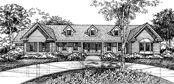 Country House Plan 98310 Elevation