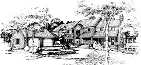 Country House Plan 98311 with 3 Beds, 4 Baths, 2 Car Garage Elevation